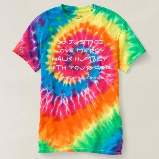 Tie Dye Micah 6:8 T-shirt