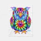 Tie Dye Owl Blanket