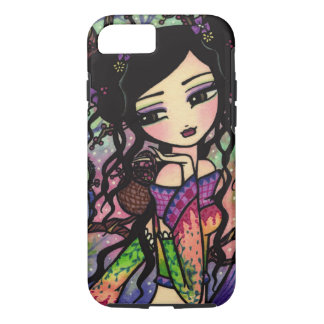Tie Dye Owl Branches Asian Mermaid Art iPhone 7 ca iPhone 7 Case