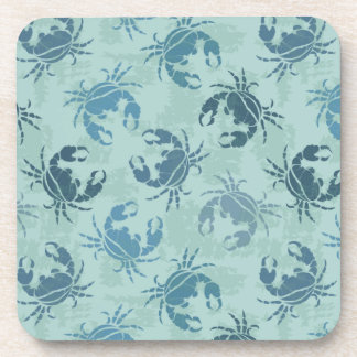Tie Dye Pattern Of Crabs Coaster