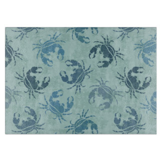 Tie Dye Pattern Of Crabs Cutting Board