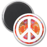 Tie Dye Peace 2 Inch Round Magnet