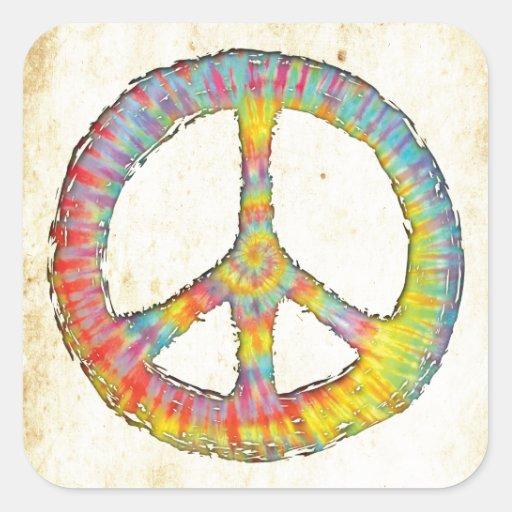Tie-Dye Peace 713 Square Sticker