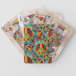 Tie Dye Peace Sign Bicycle® Playing Cards