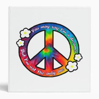 Tie Dye Peace Sign Binder