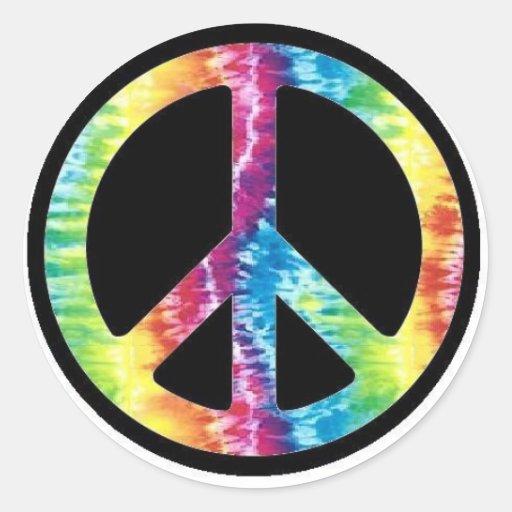 Tie Dye Peace Sign sticker