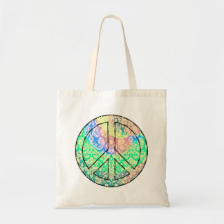Tie Dye Peace Sign Tote Bag