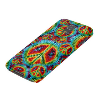 Tie Dye Peace Signs Galaxy S5 Covers