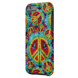 Tie Dye Peace Signs Tough iPhone 6 Case
