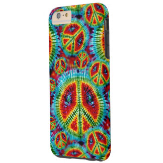 Tie Dye Peace Signs Tough iPhone 6 Plus Case