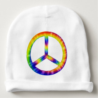 Tie Dye Peace Symbol Baby Hat Baby Beanie