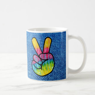 Tie-Dye Peace Symbol Coffee Mug