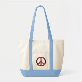 Tie Dye Peace Symbol Impulse Tote Bag