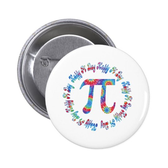 Tie Dye Pi Day Tees and Gifts 2 Inch Round Button