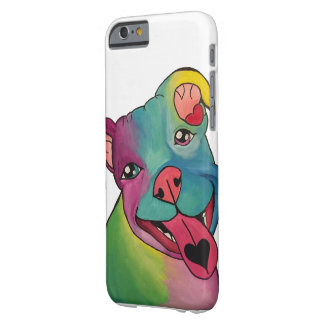 Tie-Dye Pit Bull iPhone 6/6s, Barely There Case