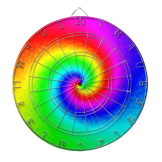 Tie-Dye Rainbow Swirl Dartboard
