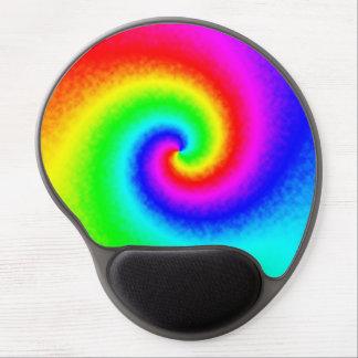 Tie-Dye Rainbow Swirl Gel Mouse Pad