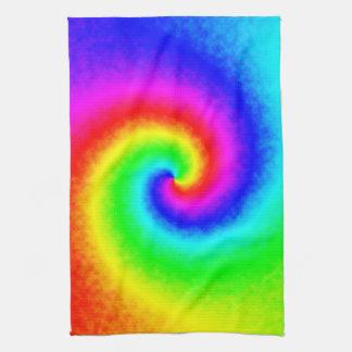 Tie-Dye Rainbow Swirl Kitchen Towel