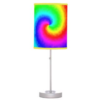 Tie-Dye Rainbow Swirl Table Lamp