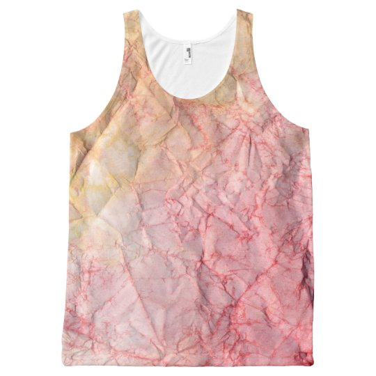 Tie Dye Red Chic All-Over-Print Tank Top