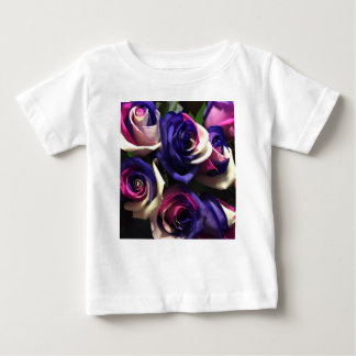 Tie Dye Roses: White, Pink, and Purple Baby T-Shirt