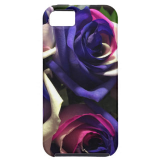 Tie Dye Roses: White, Pink, and Purple iPhone 5 Cover