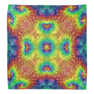 Tie Dye Sky Colorful Bandana, Hankerchief, Hankie Bandana
