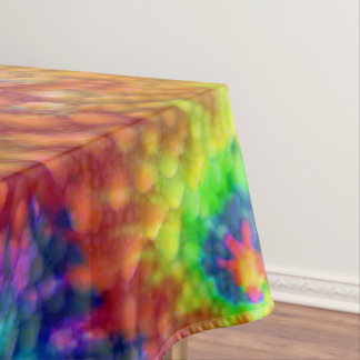 Tie Dye Sky Colorful Cotton Tablecloth