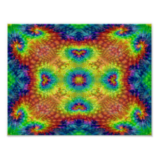 Tie Dye Sky Colorful Posters