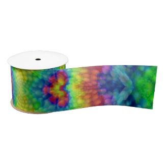Tie Dye Sky Colorful Satin Ribbon