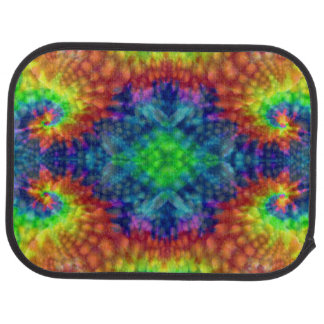 Tie Dye Sky Colorful  Vintage Car Mats  rear