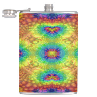 Tie Dye Sky Colorful Vinyl Wrapped Flasks