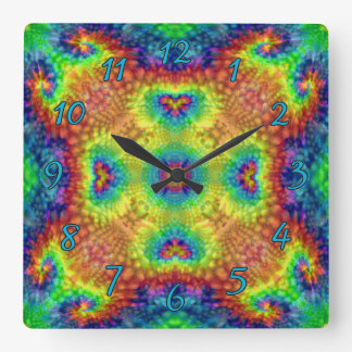 Tie Dye Sky Colorful Wall Clocks