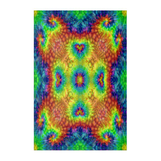 Tie Dye Sky Kaleidoscope  Acrylic Wall Art