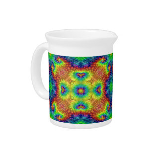 Tie Dye Sky Kaleidoscope   Colorful Pitcher