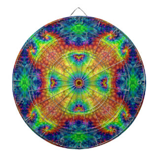 Tie Dye Sky Kaleidoscope  Metal Cage Dartboards