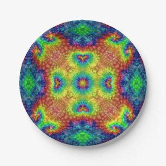 Tie Dye Sky  Kaleidoscope  Paper Plates