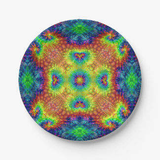 Tie Dye Sky  Kaleidoscope  Paper Plates 7 Inch Paper Plate