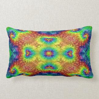 Tie Dye Sky Kaleidoscope Pattern Lumbar Pillows