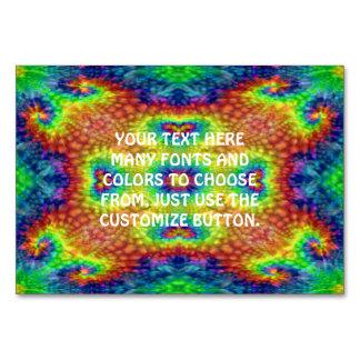 Tie Dye Sky Kaleidoscope   Tablecards Table Card