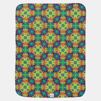 Tie Dye Sky Tiled Design Baby Blankets