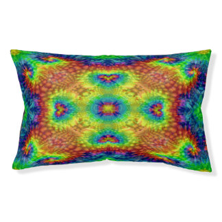 Tie Dye Sky  Vintage Colorful Dog Beds, 2 sizes Pet Bed