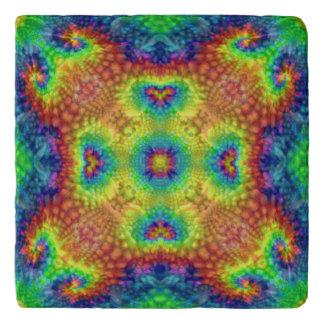 Tie Dye Sky Vintage Kaleidoscope  Stone Trivet