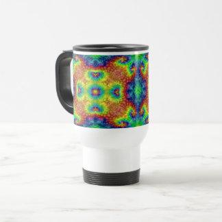 Tie Dye Sky Vintage Kaleidoscope Travel Mug