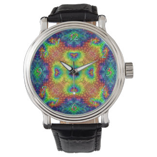 Tie Dye Sky   Vintage Mens Watch