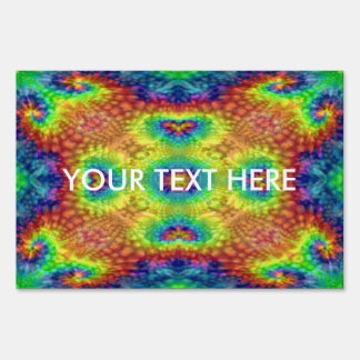 Tie Dye Sky  Yard Signs, 3 sizes Sign