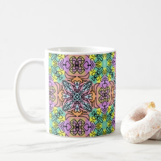 Tie Dye Spray Paint Mandala Repeat Seamless Hippie Coffee Mug