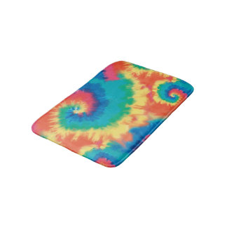 Tie Dye Style Bathroom Mat