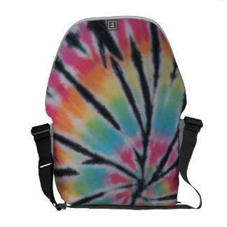 Tie Dye Swirl With Black Messenger Bag