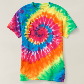 Tie Dye THC Chemical Formula Graphic T shirt